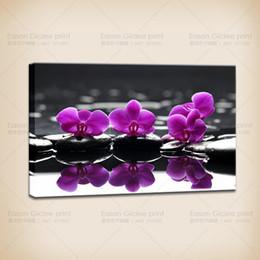Lona das pinturas das orquídeas on-line-Grandes Pinturas De Parede HD Canvas Print Home Decor Pintura Da Arte-Orquídea Fotos Na Lona Moderna Abstrata Da Parede Pictures Para Sala de estar