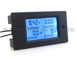 Wholesale Dc Volt Ammeter - DC6.5~100V Ammeter Voltage Meter Amp Volt Power Energy Meter With Blue Backlight LCD Digital Diaplay 50A 100A Optional MYY
