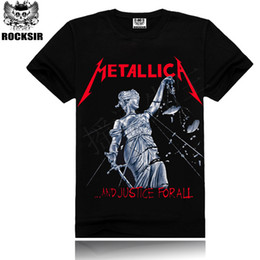 Wholesale Metallica Top - Wholesale- 2016 Iron Maiden Man Tshirt Metallica Beatles Summer Tops&Tees T shirt Rock Hip Hop T shirt Famous Brand