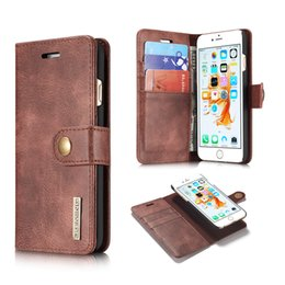 Wholesale Removable Hard - For iphone X 7 8 plus 2in1 Leather Wallet Cases Magnetic Removable Detachable Hard Case Cover Card Holder For Galaxy S9 S8 edge