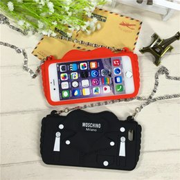 Wholesale Iphone Chain Bag Silicone Case - shoulder bags clutch Mini chain bag phone Cases For iphone7 7plus soft silica gel case back cover For iphone6 6S 6 6Splus