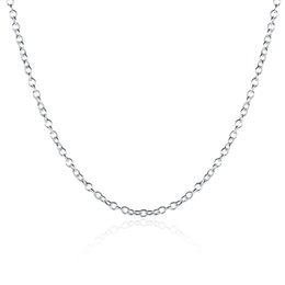Wholesale Silver Chains Rolo Necklace - 925 Necklace Silver Chain Fashion Jewelry Sterling Silver EP Link Chain 1mm Rolo 16 - 24 Inch