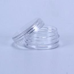 Wholesale Wholesale Screw Lids - 2ML Clear Plastic Empty Jar28x13MM Clear Lid 2Gram Pot Sample Size For Cosmetic Cream Eye Shadow Nails Powder Jewelry E-Liquid
