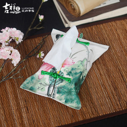 Wholesale Chinese Tissue Box - Wholesale- Luckome Freeshipping high quality chinese style flowers and birds cloth tissue boxes for Living Room Coffee Table Toilet