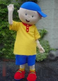 Wholesale Music Boy Mascot - EMS free shipping Hot selling 2017 Caillou boy Mascot costume characters mascot costume kids party costume