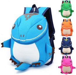 Wholesale Dinosaurs Bags - 5Color The Good Dinosaur Nylo kids backpack Cotton Fabric Cartoon Arlo Anti Lost kindergarten children backpack school bags dinosaurs snacks