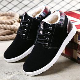 Wholesale Korean Shoes Flat Boots - Free Shipping Winter Cotton Shoes Men's Casual Shoes Men's Shoes Korean Version Shoes Velvet Warm Snow Boots Students