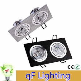 Wholesale Cob Down Lights - Dimmable Recessed Led Ceiling Downlights Square 12W 20W 24W cob Led Down Lights AC 110-240V With Drivers CE UL CSA SAA