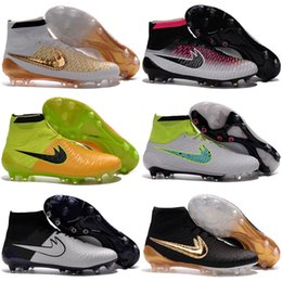 Wholesale Mens Socks For Winter - Wholesale 2017 Soccer Shoes For Men'S Mercurial Superfly Fg Cr7 Sock Boots Football Womens Mens High Tops Ronaldo Ankle Indoor Soccer Cleats