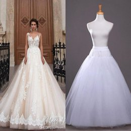 Wholesale Cheap Wedding Slip - 2017 In Stock A-line Petticoats Cheap Bridal Accessories Bridal Slip for Wedding Dresses Bridal Tutu Underskirt Petticoat CPA212