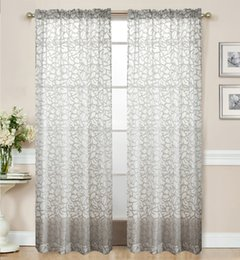 Wholesale Bead Curtains For Doors - Fashion Sewing Beads The Little Flower Sheer Curtains For Living Room Balcony Kitchen Drapes Voile Tulle Curtain For Windows Blooming
