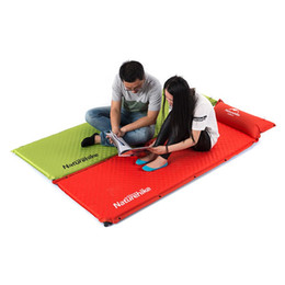 Wholesale Inflatable Tent Clear - Wholesale- Outdoor Automatic Inflatable Camping Tent Blanket Mattresses Sleeping Pad Promotion