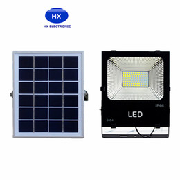 Wholesale Battery Solar 12v Dc - Outdoor Solar LED Flood Lights 100W 50W 30W 70-85LM Lamps Waterproof IP65 Lighting Floodlight Battery Panel Power Remote Contorller China