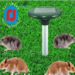 Repellente animale ad ultrasuoni online-Nuovo Solar Powered LED Ultrasonic Gopher Talpa Snake Mouse Repeller Animal Pest per Garden Yard Tools forniture