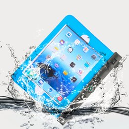 Wholesale Dry Bag Ipad - Wholesale- In Stock! Waterproof Dry Bag Blue Underwater Pouch Case Cover For Mini Ipad With Campass Hot sell