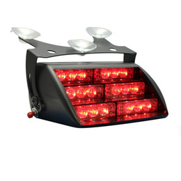 Wholesale Personal Emergency - Red 18x LED Firefighter EMT Personal Emergency Vehicle Strobe Warning Dash Light