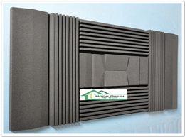 Paneles de aislamiento acústico online-Paneles de espuma acústica de color negro Material de aislamiento de insonorización para la absorción de sonido en salas de música 210 * 90 * 7.5 cm