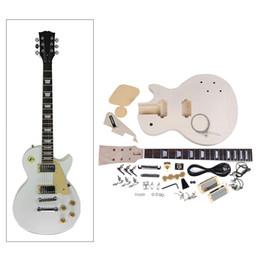 Wholesale Electric Guitar Kits Mahogany Body - Wholesale- High Quality Electric Guitar DIY Kit Set Mahogany Body Rosewood Fingerboard Nickel Alloy String