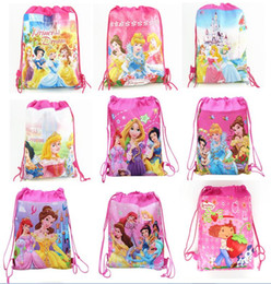Wholesale Wholesale Princess Drawstring Backpack - Princess Children Drawstring Backpack Bags,Shopping School Traveling GYM bags,waterproof fabric,Party Gift Kids Cartoon Bags