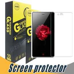 Wholesale Z Max - Tempered Glass For ZTE Z Max Pro V7 Grang X Max2 Screen Protector 9H 2.5D Anti Shock For ZTE L3 V6 Plus L5 5s Mighty3 For HTC X9 One M11