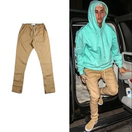 Wholesale Justin Bieber Pants Trouser - new chinos joggers trousers mens european urban clothing khaki justin bieber harem dress zipper track pants fashion pant