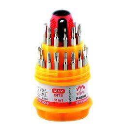 Микро-наборы инструментов онлайн-(6036B) 31 в 1 комплект Micro карманный прецизионная отвертка Torx магнитная отвертка сотовый телефон Инструмент Ремонт box kit G0597