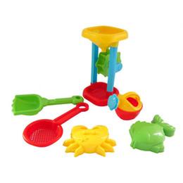 Wholesale Beach Plastic Shovel - Wholesale- 2017 6Pcs Sand Sandbeach Kids Beach Toys Castle Bucket Spade Shovel Rake Water Pretend Toys Gift Levert Dropship Y7824