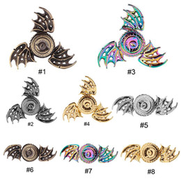 Wholesale focus kid - Colorful Dragon's eye Fidget Spinner Metal Rainbow Dragon Hand Finger Spinners for Autism and ADHD Focus Anxiety Relief Stress Toys 40