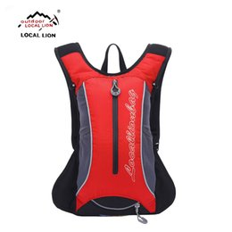 Wholesale Portable Roads - Wholesale- LOCALLION men Cycling bag Bicycle Water Bag Road Mountain Bike Sport Running Outdoor Hiking Backpacks Portable Zipper Nylon bag