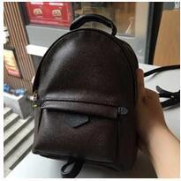 2019 очень большой кожаный рюкзак Высокое качество женская Palm Springs рюкзак мини натуральная кожа дети рюкзаки женщины печати кожаный рюкзак M41560