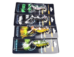Wholesale 7cm Lures - Simulation Ray Frog Artificial Snakehead Lure For Freshwater Fishing 12.95g 7cm Floating Diving pesca Soft baits