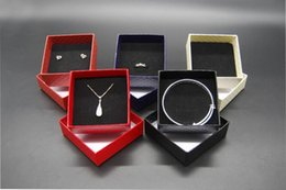 Wholesale Cheap Boxed Jewelry Sets - Wholesale Jewelry Cases Display Cardboard Necklace Earrings Ring Bracelet Box Sets Packaging Cheap Sale Gift Box with Sponge
