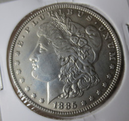 Wholesale Collectible Carvings - US Coins 1885CC Morgan Dollar copy Coins   Free Shipping Promotion Cheap Factory Price nice home Accessories Silver Coins High Quality