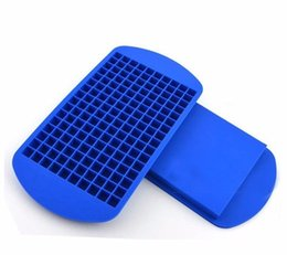 Wholesale Bar Cream - New Safety Ice Maker Mould Bar Party Drink 160 grid squares silicone ice trays Ice broken grid Color randomly