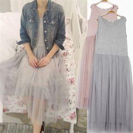 Wholesale New Styles Lady Maxi - 2016 New Style Maxi Long Dress Women Fashion Casual Sleeveless Gauze dress Vintage Party Vestidos Ladies ZMF9856327