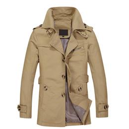Wholesale Cool Clothes Designs - Wholesale- 2016 New Jacket Men Cool Fashion Design Veste Homme Spring Winter Suit Coat Solid Cotton Khaki Brand Clothing M-5XL Men Jacket