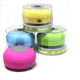 Wholesale Water Proof Mp3 Speakers - Wholesale 10pcs lot Portable Water-proof Wireless Bluetooth Speaker subwoofer Shower Car Handsfree Music Suction Phone Mic Promotional