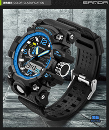 Wholesale G Shock For Men - 2017 New Fashion Brand SANDA Digital-watch G Style Outdoor Sports Shock Military Digital Watch Men Quart Wrist Watches for Men SD170810
