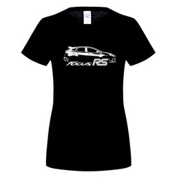 Wholesale Focus Rs - Custom Work T shirts ford focus rs 2015 Teenage Slim Fit Short Sleeve T-Shirt Great Discount WOMen's Flower Shirts For Guys