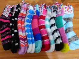 Wholesale Thick Fuzzy Socks - Wholesale- New WOMENS Girl Winter Soft WARM Fuzzy Socks Home Towel Soft Thick Towel Socks floor carpet socks whcn+