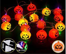 Wholesale Wooden Animals Heads - Pumpkin lights decorated Halloween light bar decorated pumpkin chord lights LED colorful pumpkin head string lights