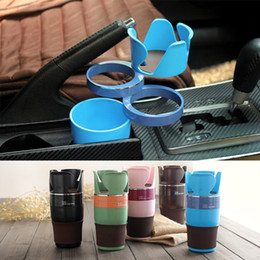 Wholesale Cup Accessories - 2017 Newst Multifunction Car Cup Holder Rotatable Convient Design Mobile Phone Drink Holder Drink Holder Car Accessories