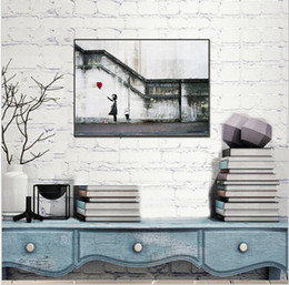 Wholesale Banksy Oil Paintings - Canvas Single Wall Art Painting There Is Always Hope Melamine Sponge Board no Frame Prints Oil Painting Modern BANKSY Art Paint