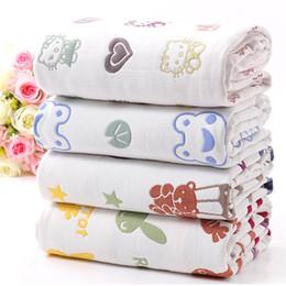 Wholesale Wholesale Muslin Gauze - 2017 NEW Baby kids swaddling Soft 6layers of cotton gauze Newborn Muslin Baby Wrap blanket Bath towel Quilt Ventilation