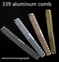 Wholesale aluminum paddles - factory directly sale hair brushes hot sale custom made hair cutting comb aluminum hair salon comb can make own logo