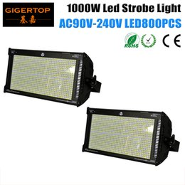 Wholesale Led Smd Screens - Freeshipping High Brightness 2PCS 1000W SMD Led Strobe Light New Blue LCD Display Screen Auto Running Mater,Slave DMX512 Control