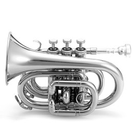 Wholesale Mini Pocket Trumpet - wholesale High Quality Bb Mini Pocket Trumpet In Lacquer Finish With Case & Accessories