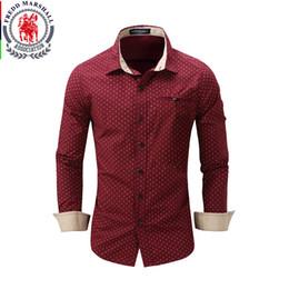 Wholesale Unique Designs Mens Shirts - Wholesale- New Arrival 100% Cotton Casual Men Shirts Long Sleeve Floral Collar Unique Design Mens Social Business Shirts Slim Fit US Size