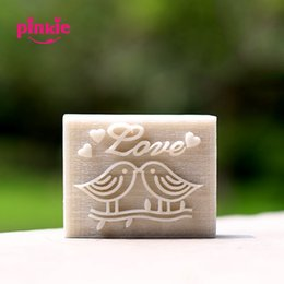Wholesale Soap Mold Sizes - Wholesale- Love kiss birds pattern natural handmade Resin soap stamp mold chapter mini diy patterns or custom size