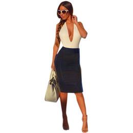 Зеленый офис онлайн-Лето Сексуальная Bodycon бандаж платье мода женщины глубокий Backless тонкий карандаш платья партии клубная одежда Vestidos зеленый офисная работа новый q171118
